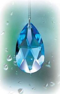 Crystal~Dewdrop 38 Sapphire Swarovski~Rainbow Hanging Crystal-A stunning array of dancing light